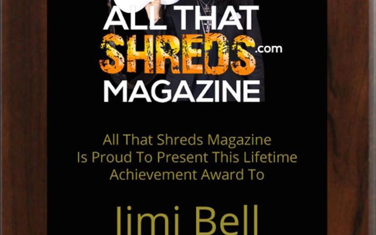 All That Shreds Magazines Lifetime Achievement Award Recipient: Jimi Bell