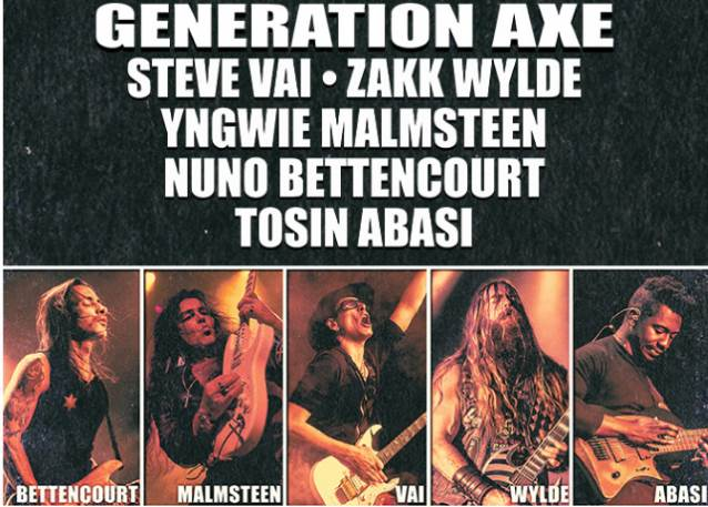 Steve Vai, Zakk Wylde, Yngwie Malmsteen, Nuno Bettencourt To Join Forces for Second North American 'Generation Axe' Tour