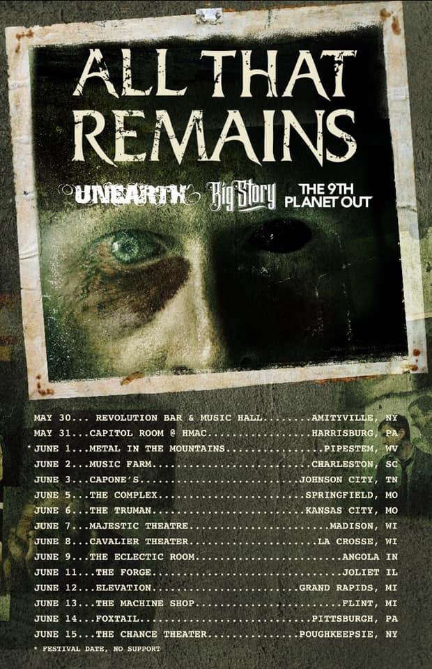 All That Remains Announces Spring 2019 Headline Tour
