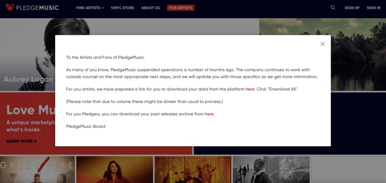 PledgeMusic's Board Breaks Its Silence As Criminal Charges Are On The Horizon