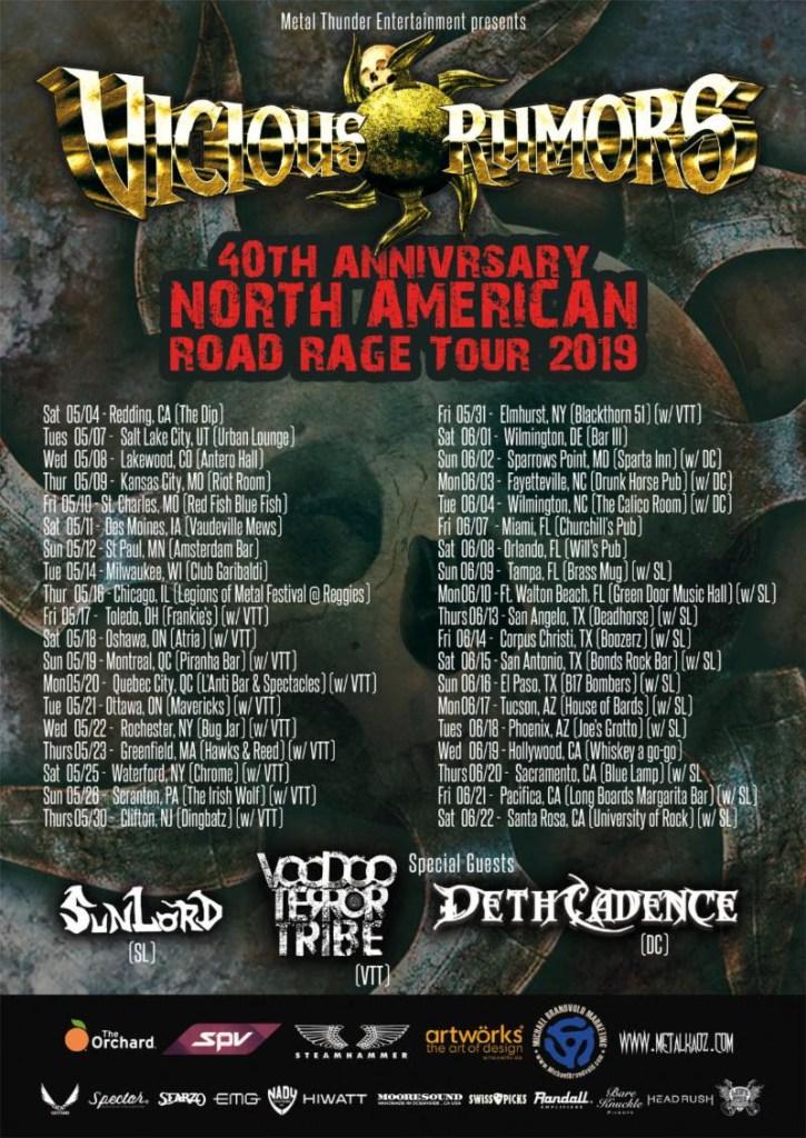 "Vicious Rumors Kick Off ""40th Anniversary Road Rage"" North American Tour Tomorrow"