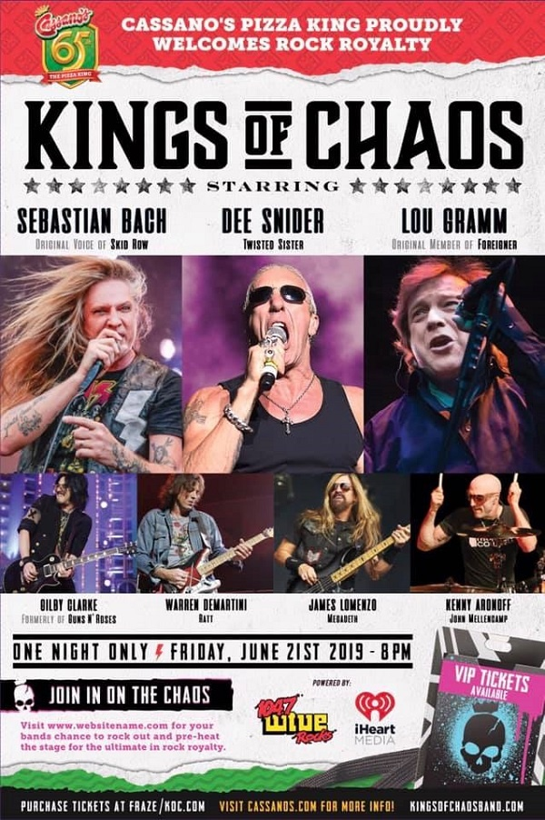 "Kings Of Chaos: Dee Snider And Warren Demartini Perform Ratt's ""Wanted Man"""