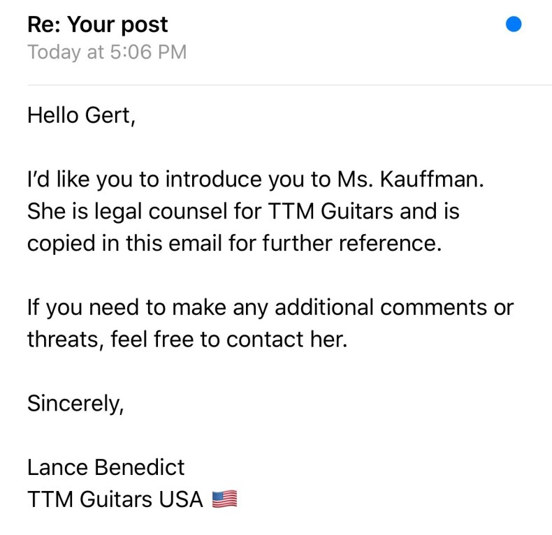 """Trouble Continues For TTM Guitars As Ship Dates Continue To Be """"Postponed"""""""