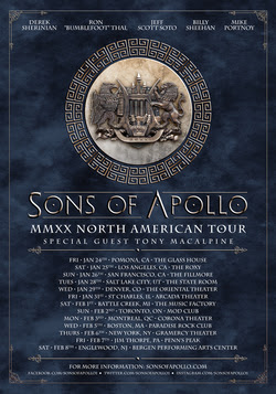 Sons Of Apollo Announce 2020 Tour With Tony MacAlpine Supporting