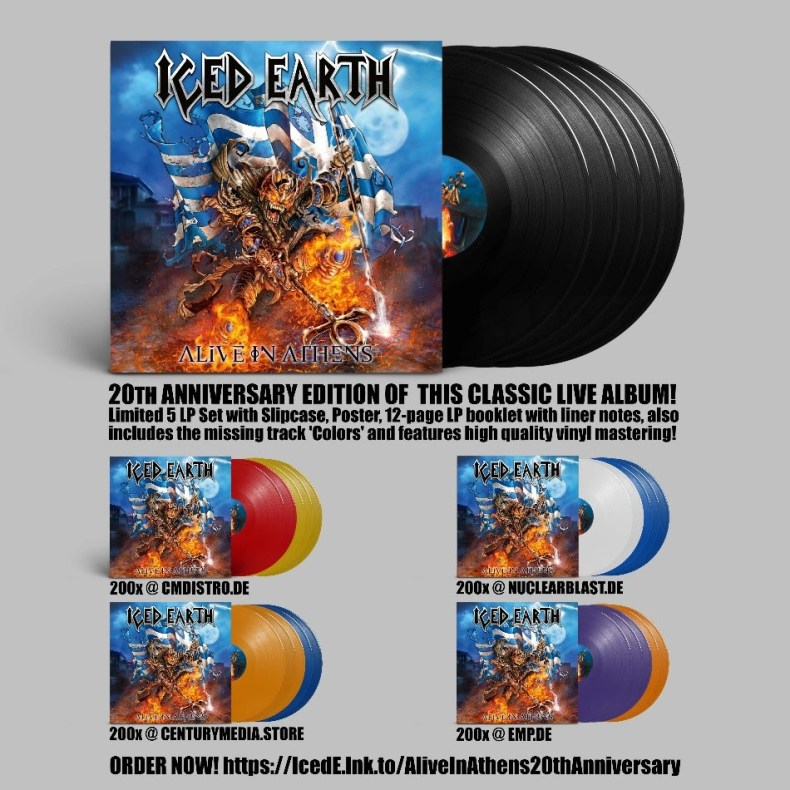 Iced Earth Announce 20th Anniversary Edition of 'Alive In Athens'