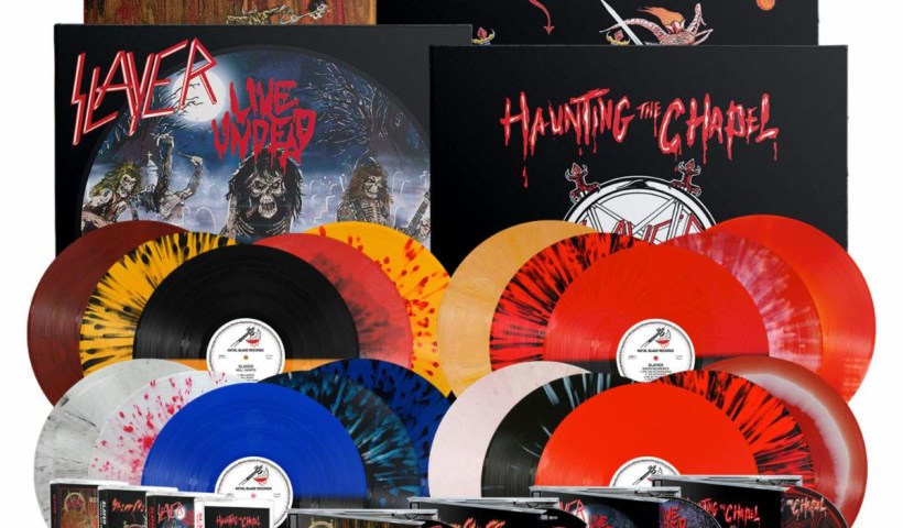 SLAYER Re-Issue Metal Blade Catalogue; Pre-Order Now For 'Show No Mercy', 'Haunting the Chapel', 'Live Undead', And 'Hell Awaits'