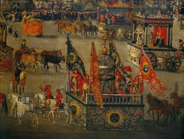 Royal Entry During A Masquerade Ball