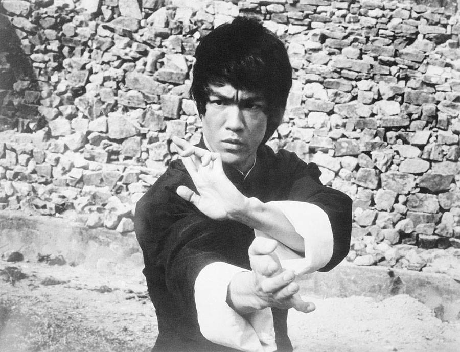 Bruce Lee on set of Enter the Dragon