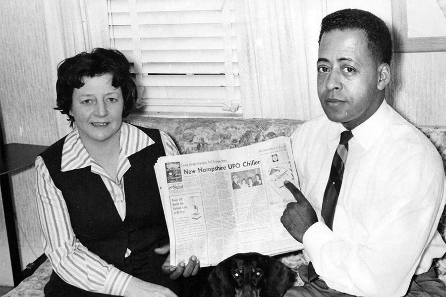 Barney And Betty Hill In The Newspaper