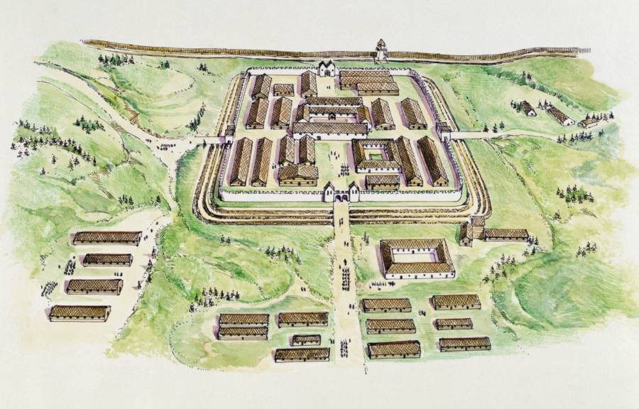 Saalburg Roman Fort Rendering