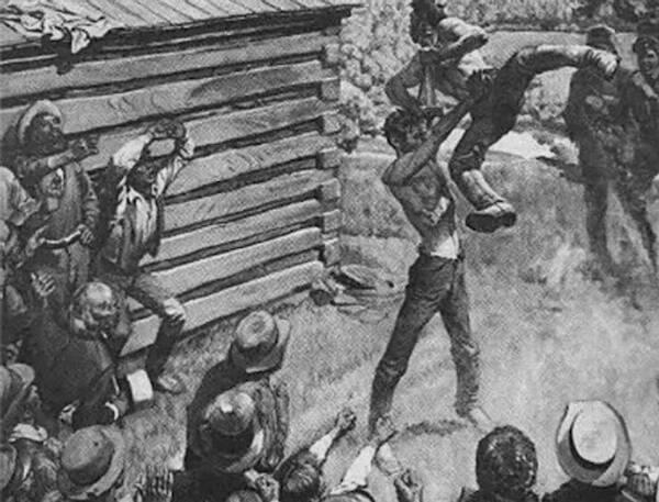 Illustration Of Lincoln Wrestling