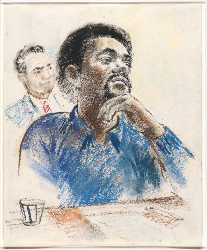 Court Sketch Of Bobby Seale