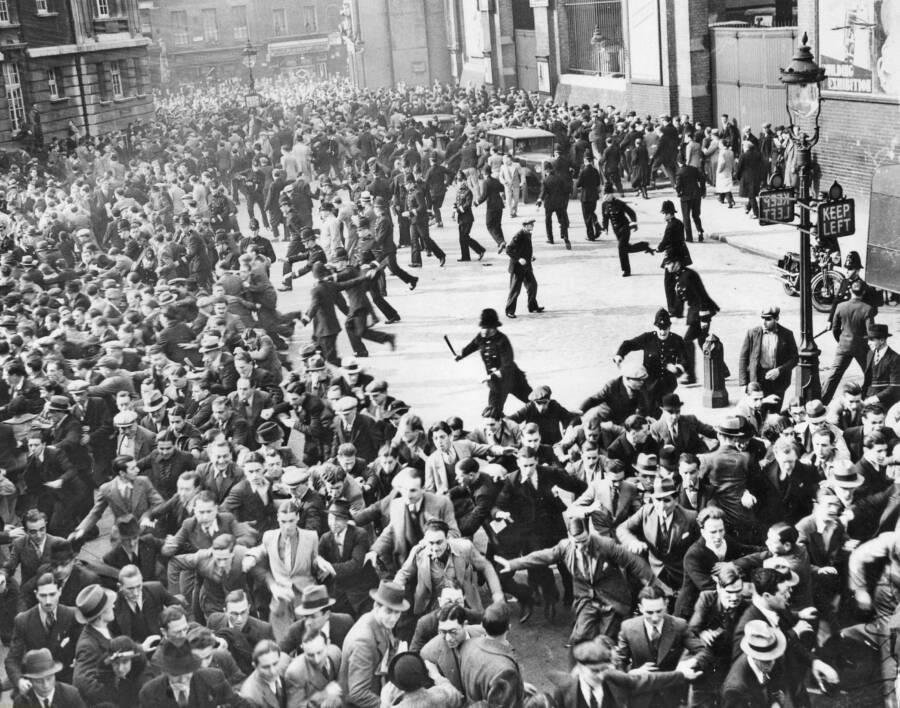 Riot Between Antifascists And Black Shirts