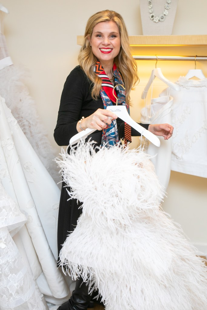Julie Sabatino, The Stylish Bride, with a wedding gown