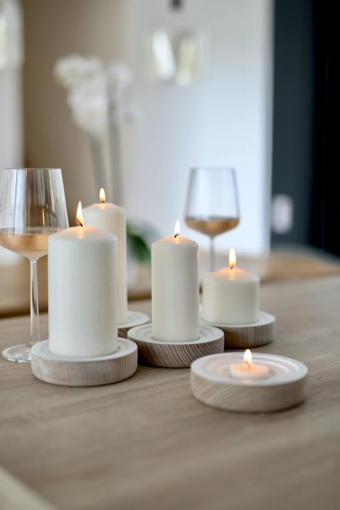 Hosting essentials: unscented candles
