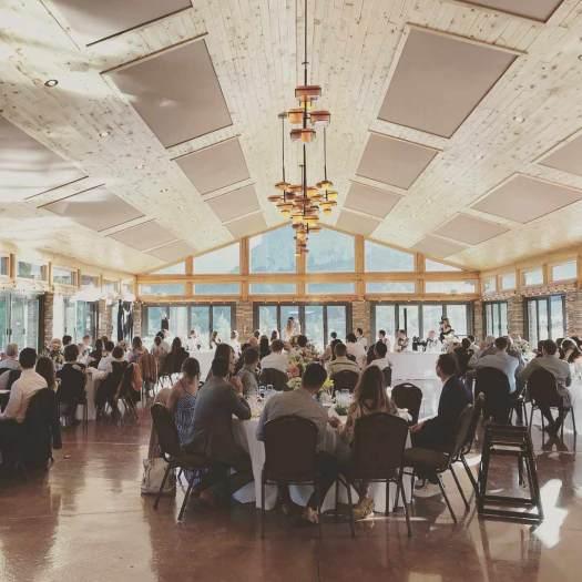 Wedding reception at Mount Princeton Hot Springs.