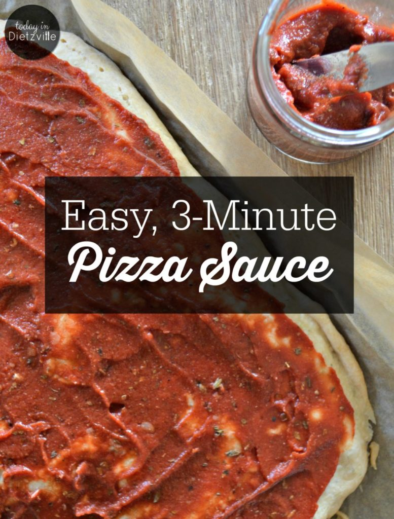 3-Minute Sugar-Free Pizza Sauce | When my family and I have a hankering for homemade pizza, we don't grab a can of pizza sauce... because, sugar. It's in all the store-bought sauces! But...in 3 minutes, I can whip up an easy sugar-free pizza sauce to avoid refined sugar and save money! This is a nourishing, frugal option!