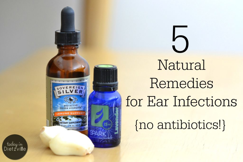 5 Natural Remedies For Ear Infections {no antibiotics!} Ear infections are one of the easiest maladies to treat naturally and at home. Here are 5 natural, no-antibiotic treatments for ear infections that work! | AllTheNourishingThings.com