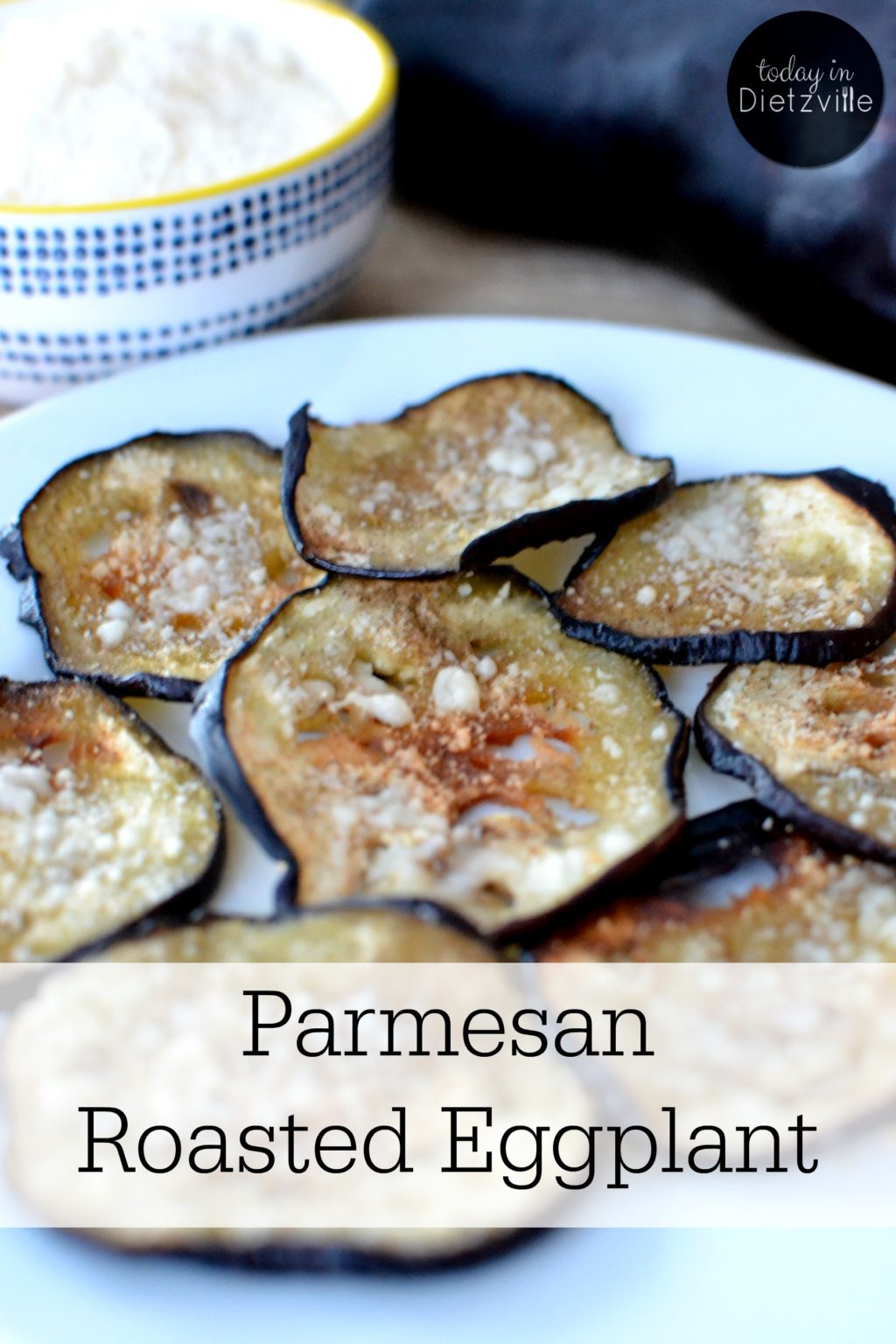Parmesan Roasted Eggplant | Eggplant is colorful! And color in veggies and fruits is a sure sign of nutrition, antioxidants, and enzymes! Eggplants are super high in fiber, but low in starch -- so they're excellent for gut health (ahem, regularity). This high fiber helps you feel full without eating a large amount of food, so eat more eggplant if you're watching your waistline. Parmesan Roasted Eggplant is one of my family's favorite ways to enjoy this lovely vegetable! | AllTheNourishingThings.com