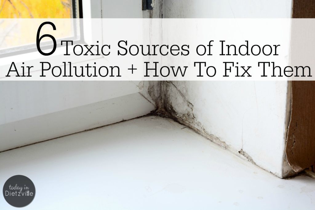 "6 Toxic Sources of Indoor Air Pollution + How To Fix Them | ""I want to breathe toxic air,"" said no one ever. Knowing the sources of indoor air pollution is half the battle. Once you know, you can make a plan to correct it, right? Here are 6 toxic sources of indoor air pollution. You may not be able to fix them today, but they can be fixed -- some may be easier than you think! 