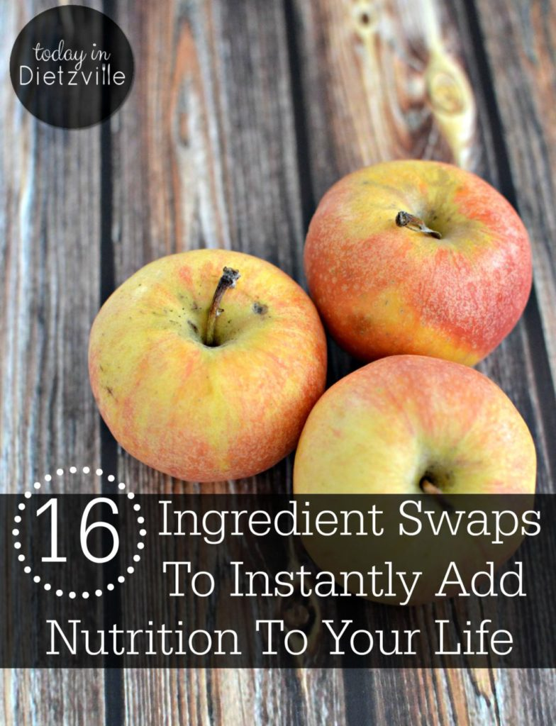 "The #1 question/blank stare I get from people is, ""I want to do all this, but where do I start????"" The simplest things you can do involve swapping ingredients -- just exchange the unhealthy ones for healthier options. Here are 16 Real Food ingredient swaps to get you started and instantly add nutrition (like healthy fats, fiber-filled veggies, and pastured animal protein) to your life!"