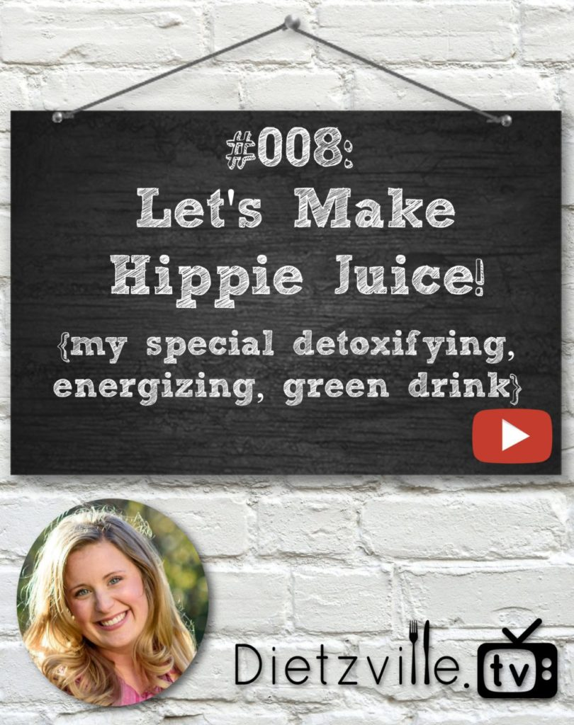 Dietzville.TV #008: Let's Make Hippie Juice! | I feel like I have more energy, better digestion, and a stronger immune system since I began drinking Hippie Juice. Hippie Juice has made such a difference in my life that I want to spread this recipe -- YOU NEED TO MAKE SOME TODAY! In this episode of Dietzville.TV, I'm making Hippie Juice for you. | Dietzville.tv