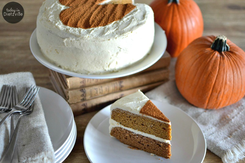 Sugar-Free Pumpkin Spice Cake | My sugar-free pumpkin spice cake does not contain even 1 questionable ingredient. This is the type of cake you can feel good about eating. Heck, I even serve this for breakfast! There's no grains, gluten, dairy, nuts, and absolutely NO Splenda! | AllTheNourishingThings.com