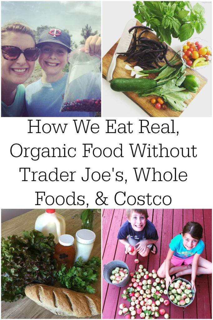 How We Eat Real, Organic Food Without Trader Joe's, Whole Foods, & Costco | When you live far from the big city, you don't have regular access to organic or whole foods. What to do? That's exactly the position my family is in, yet we continue to source real, organic food without Trader Joe's, Whole Foods, or Costco! | AllTheNourishingThings.com