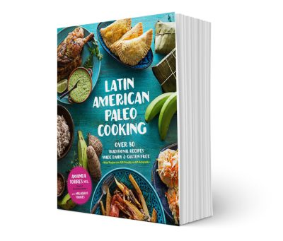 Pinchos de Pollo are traditional Puerto Rican street food. Serve this easy, Paleo dish (can be AIP, too!) as an appetizer or a main dish! You'll love Latin American Paleo Cooking with over 80 traditional recipes made gluten-free and dairy-free! | AllTheNourishingThings.com