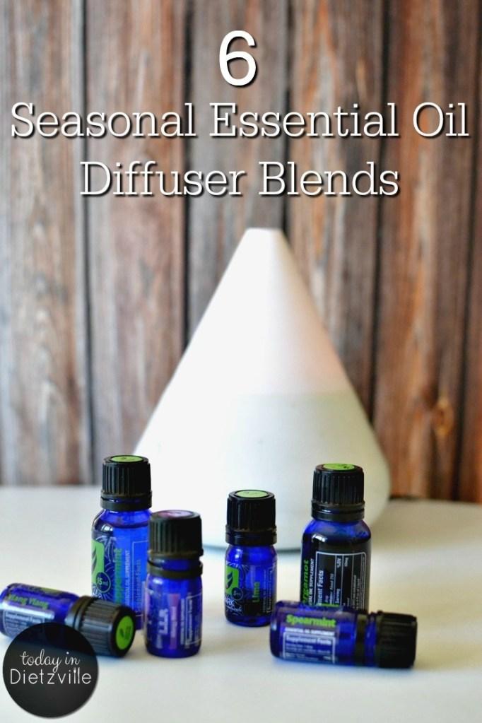 6 Seasonal Essential Oil Diffuser Blends