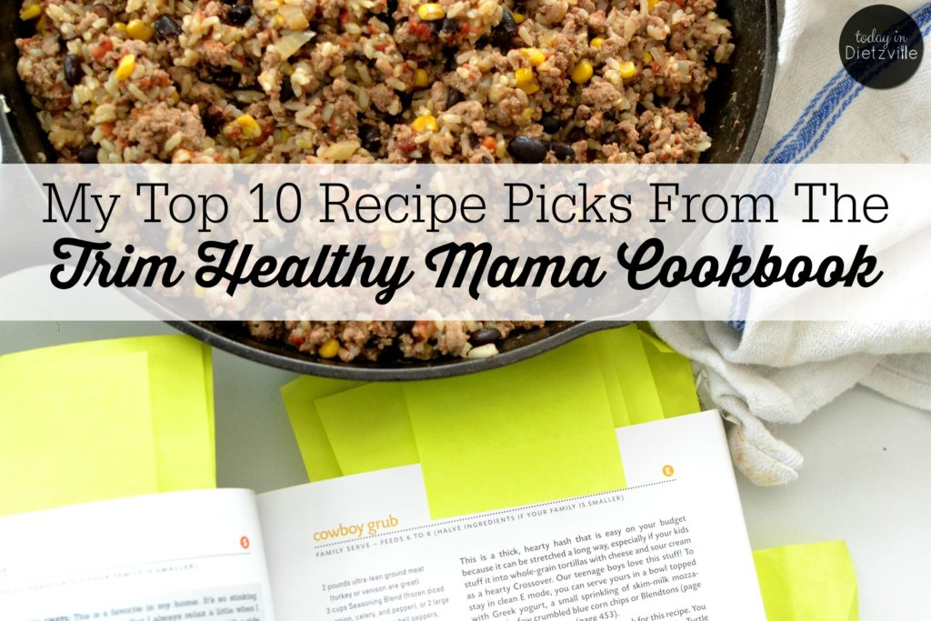 My Top 10 Recipe Picks From The Trim Healthy Mama Cookbook | The 1 thing you absolutely NEED if you're going to do Trim Healthy Mama? The new THM Cookbook! I basically have 276 Post-its sticking out of mine, and I use it multiple times a day. I am 100% certain that it's been instrumental in our ability to thrive on this eating plan -- and since January 1, I've lost 12 pounds! | AllTheNourishingThings.com