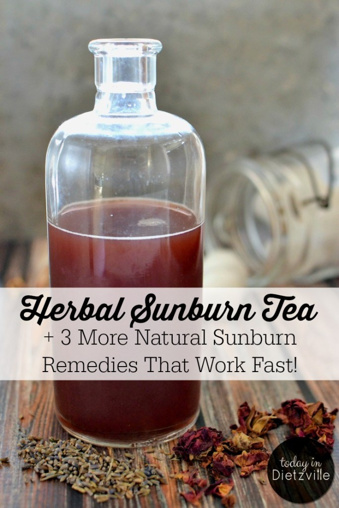 Herbal Sunburn Tea + 3 More Natural Sunburn Remedies