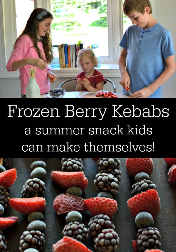 Frozen Berry Kebabs: A Summer Snack Kids Can Make Themselves!
