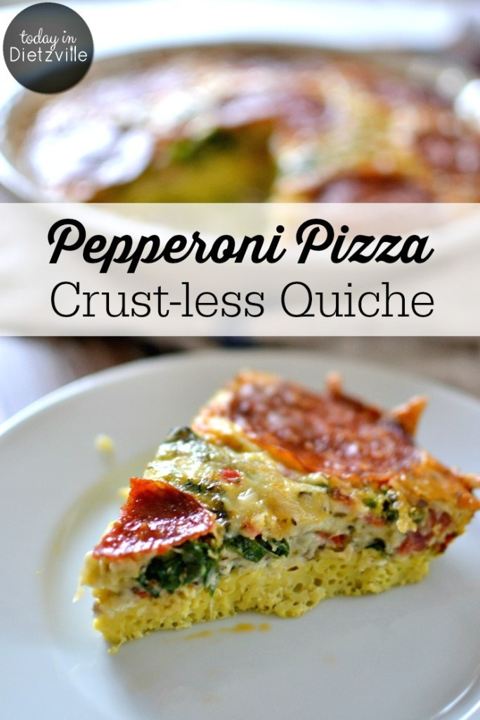 Pepperoni Pizza Crust-less Quiche