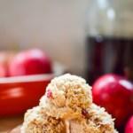 paleo no-bake maple apple cinnamon macaroons