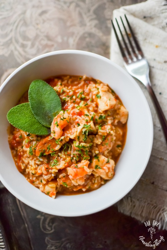 Easy & Spicy Instant Pot Jambalaya (gluten-free, dairy-free, real food)