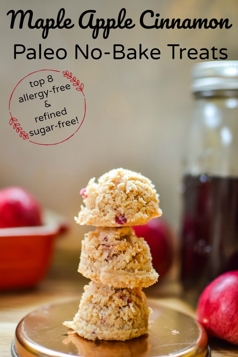 stacked paleo maple apple cinnamon no-bake macarons