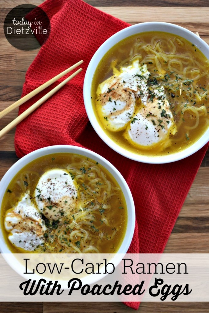 Low-Carb Ramen With Poached Eggs