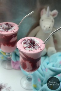 Magically Healthy Real Food Unicorn Frap {Sugar-Free & Low-Carb!}   The Unicorn Frappuccino from Starbucks has a whopping 59 grams of sugar. Skip that (and the other junk) and go for a homemade Real Food Unicorn Frap instead! This version is low-carb and sugar-free, but just as magical!   AllTheNourishingThings.com