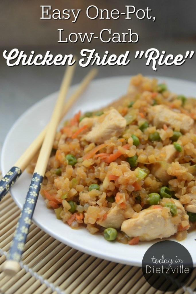 "Easy One-Pot, Low-Carb Chicken Fried ""Rice"" {Paleo, grain-free}"
