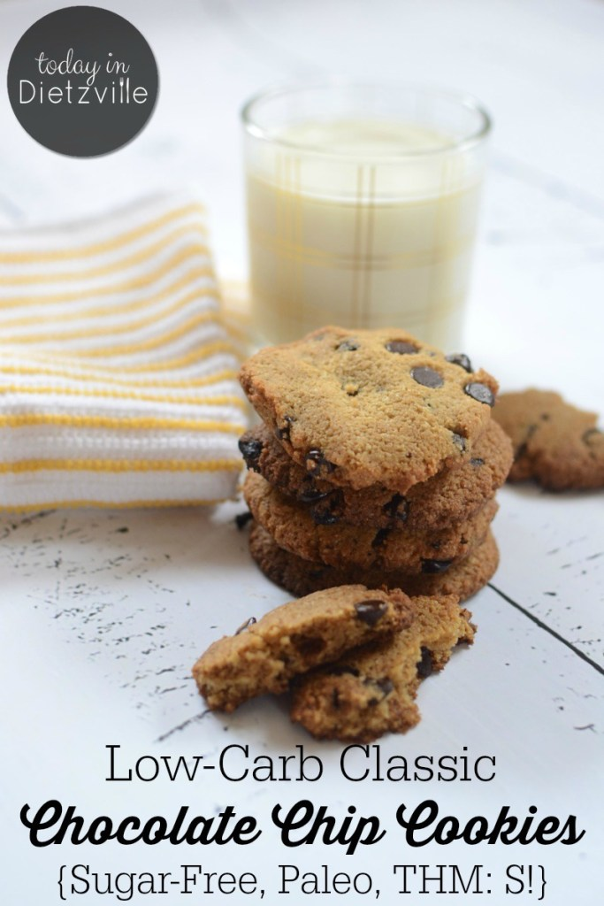 Low-Carb Classic Chocolate Chip Cookies {Sugar-Free, Paleo}