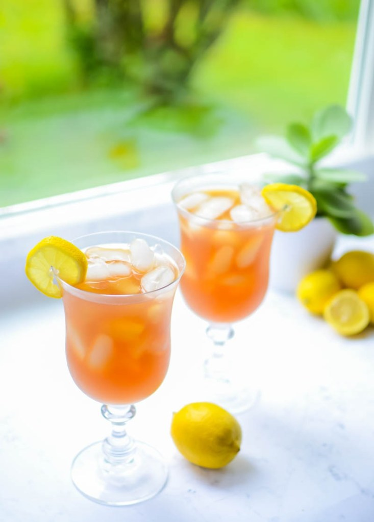 Low-Carb/Keto Arnold Palmer Iced Tea (stevia-sweetened, non-alcoholic)