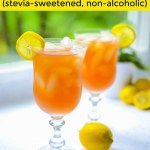 low-carb/keto arnold palmer with yellow overlay of text