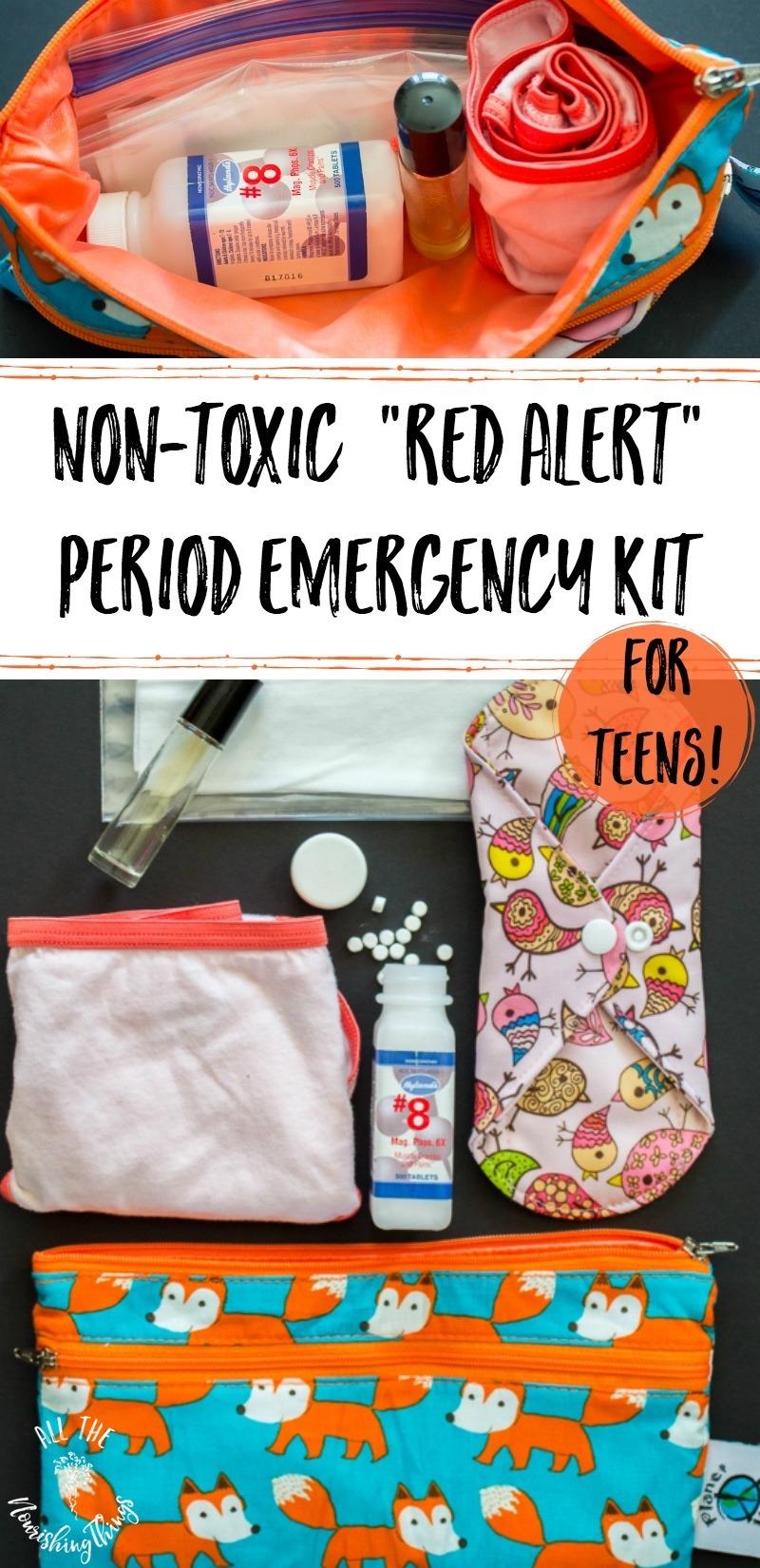 non-toxic period emergency kit