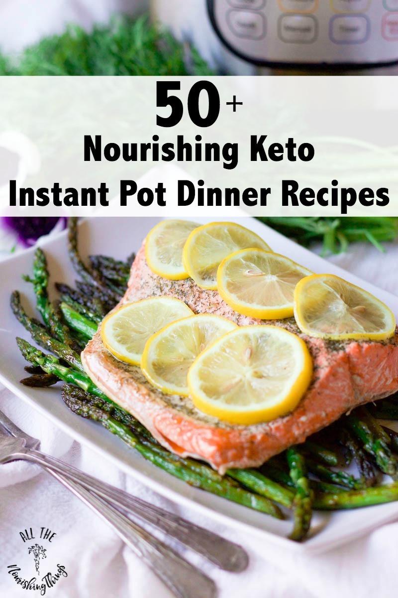 50+ nourishing keto instant pot dinner recipes salmon with lemon and asparagus