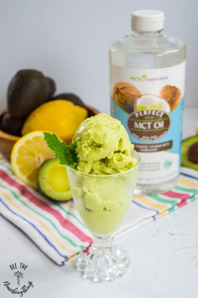 Keto Avocado Lemon Ice Cream (dairy-free, egg-free, nut-free)
