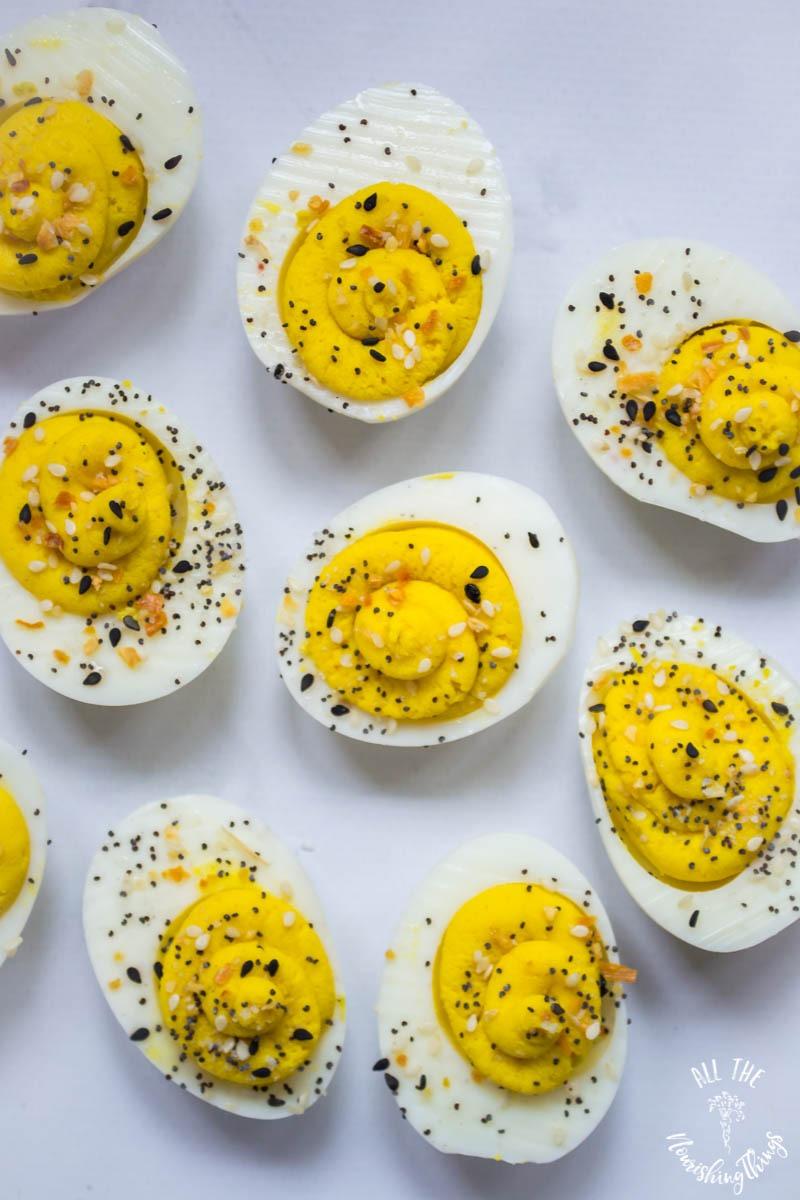keto whole30 everything seasoning deviled eggs