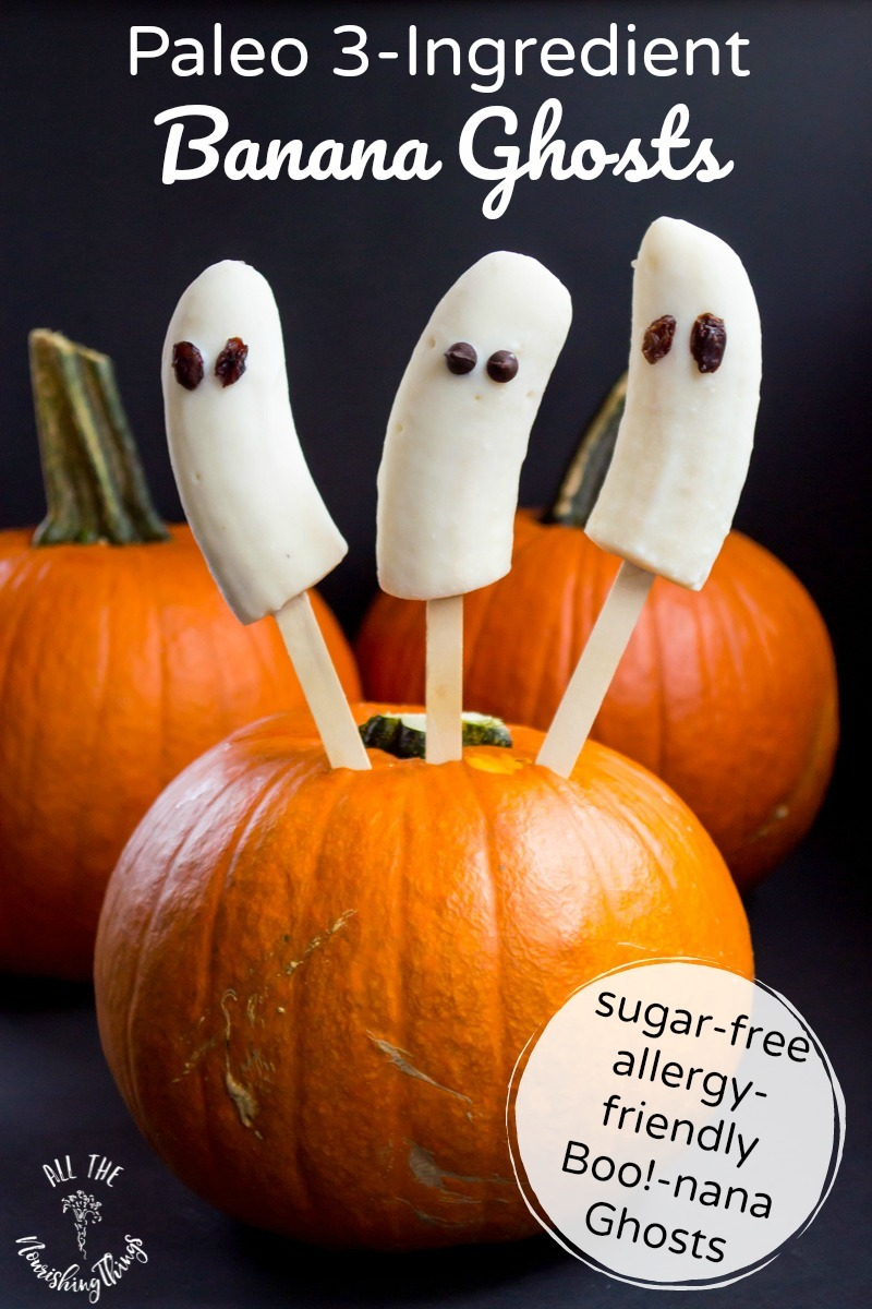 boo-nana ghosts sticking out of a pumpkin with text overlay