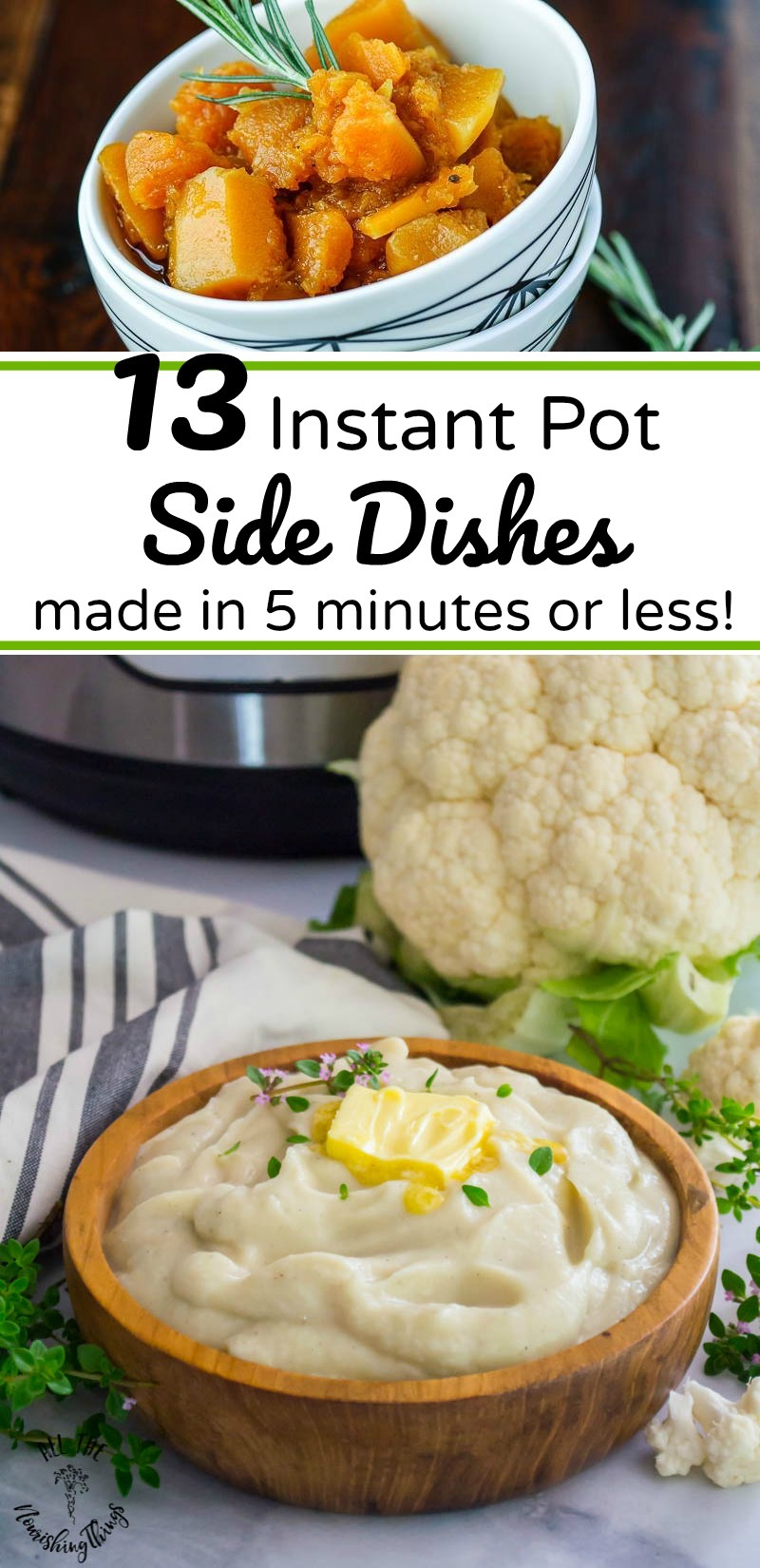 13 instant pot side dishes made in 5 minutes or less