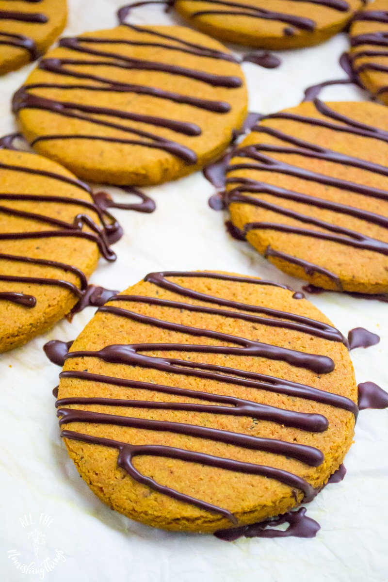 paleo anti-inflammatory spice cookies with chocolate drizzle